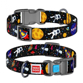 "Collar DOOG Ошейник WAUDOG Nylon ""NASA"" 20*24-40см"